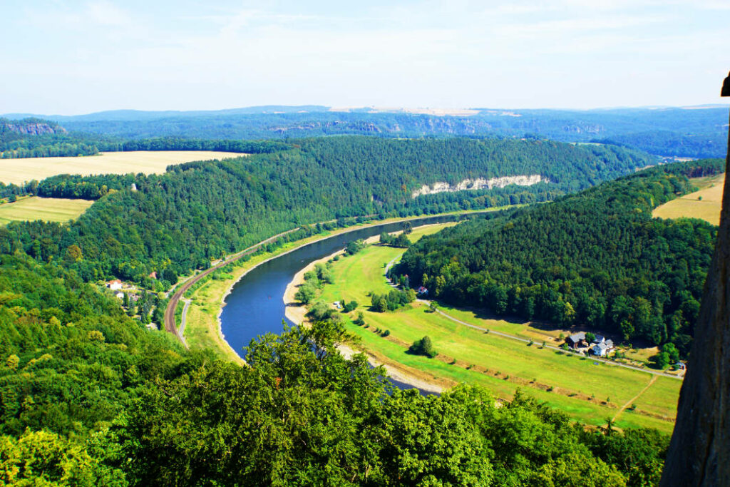 Blick auf die Elbe von der Festung Königstein