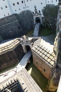 Festungseingang von oben