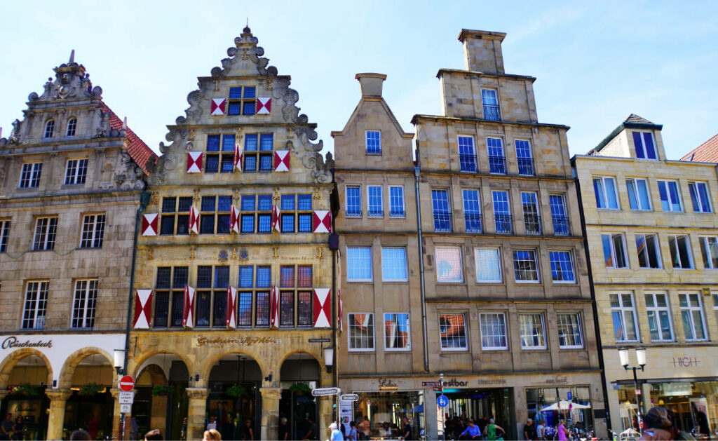 Giebelhäuser in Münster