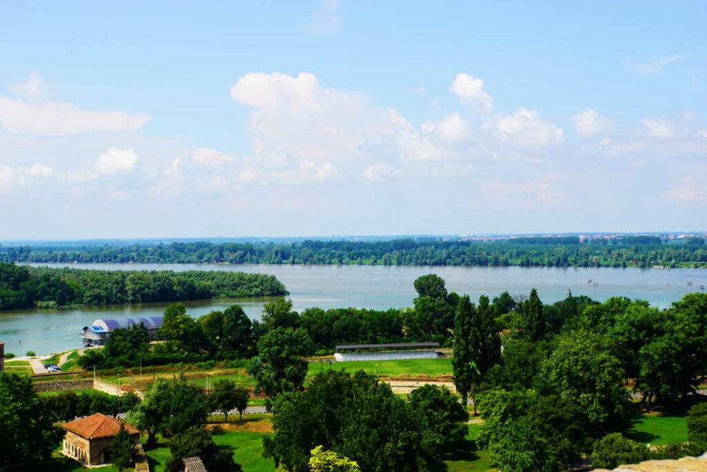Mündung von Sava in Donau