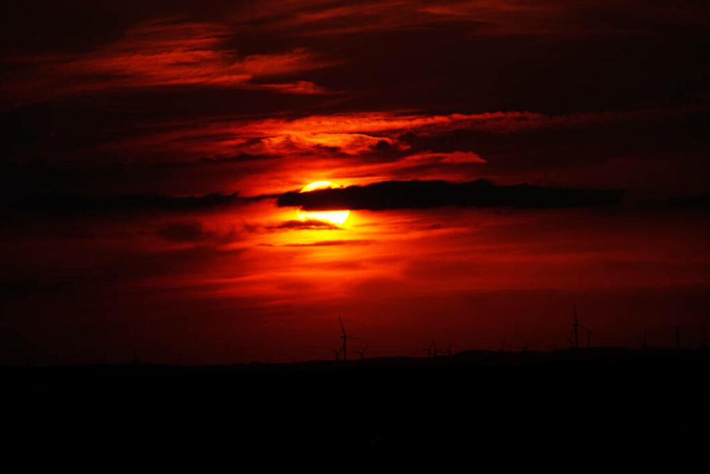 In Münster geht die Sonne unter