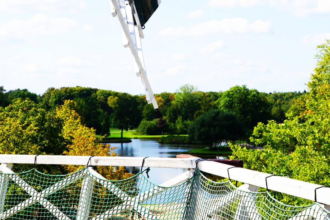 Blick zum Stadtpark von Meyers Mühle