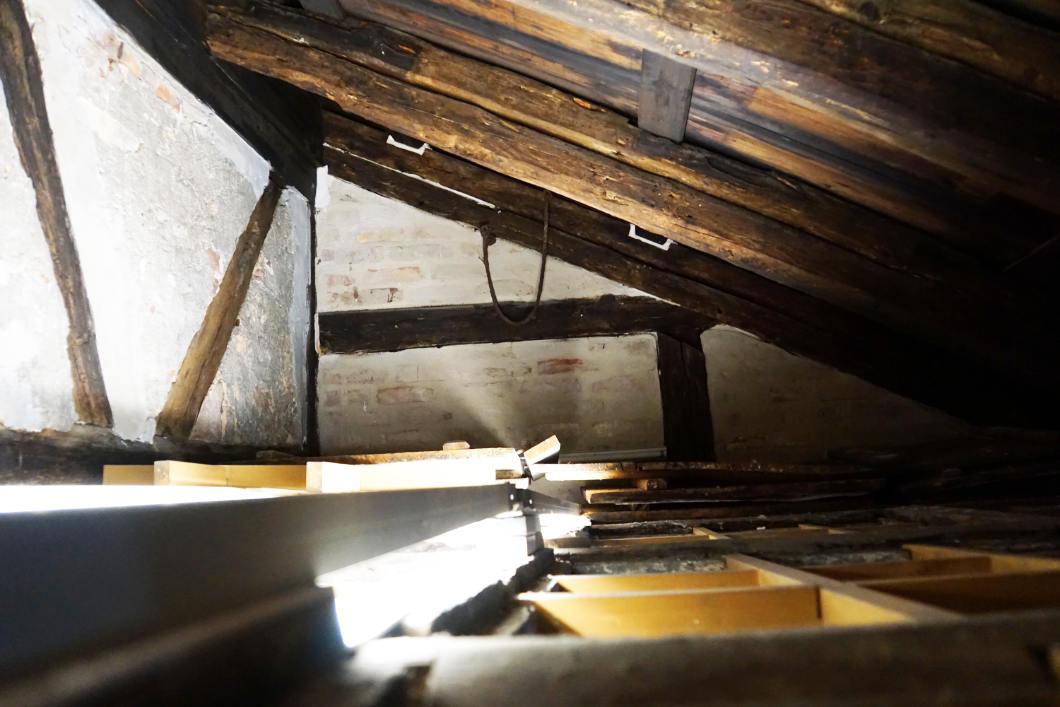 alte Dach Laubhütte