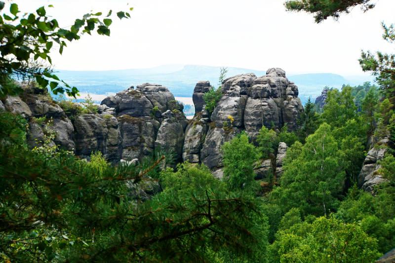 Felsen Ausblick Sächsische Schweiz