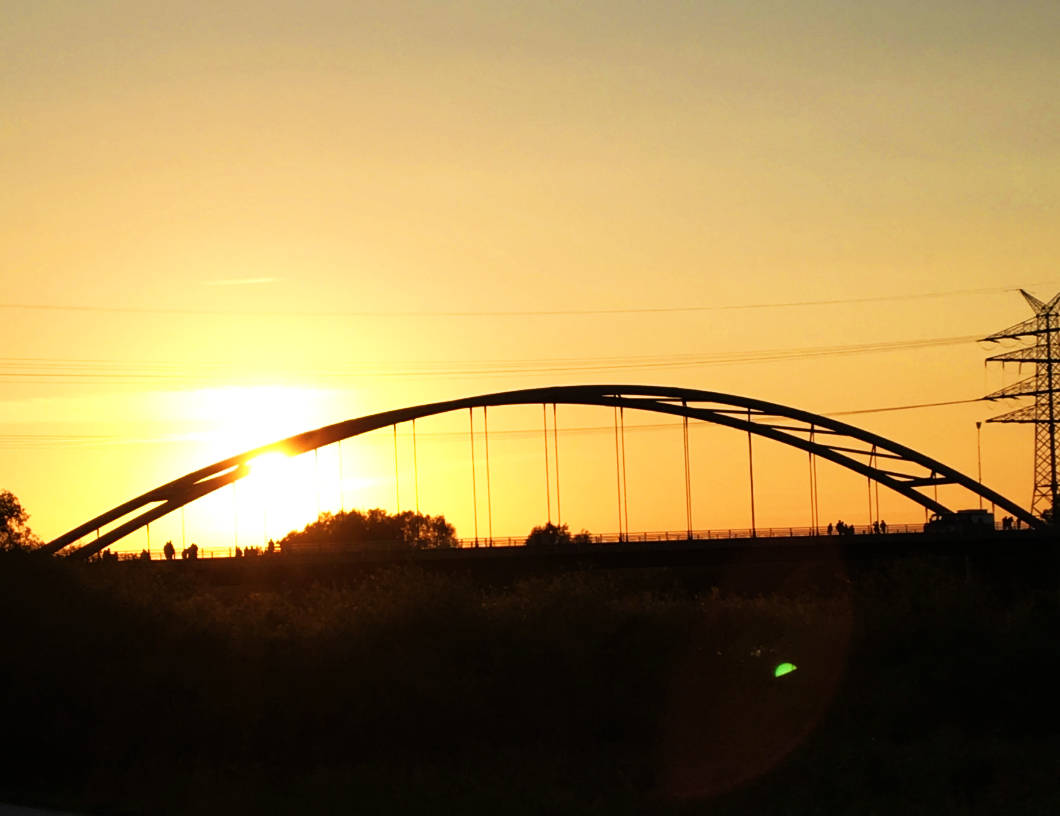 Sonnenuntergang in Papenburg