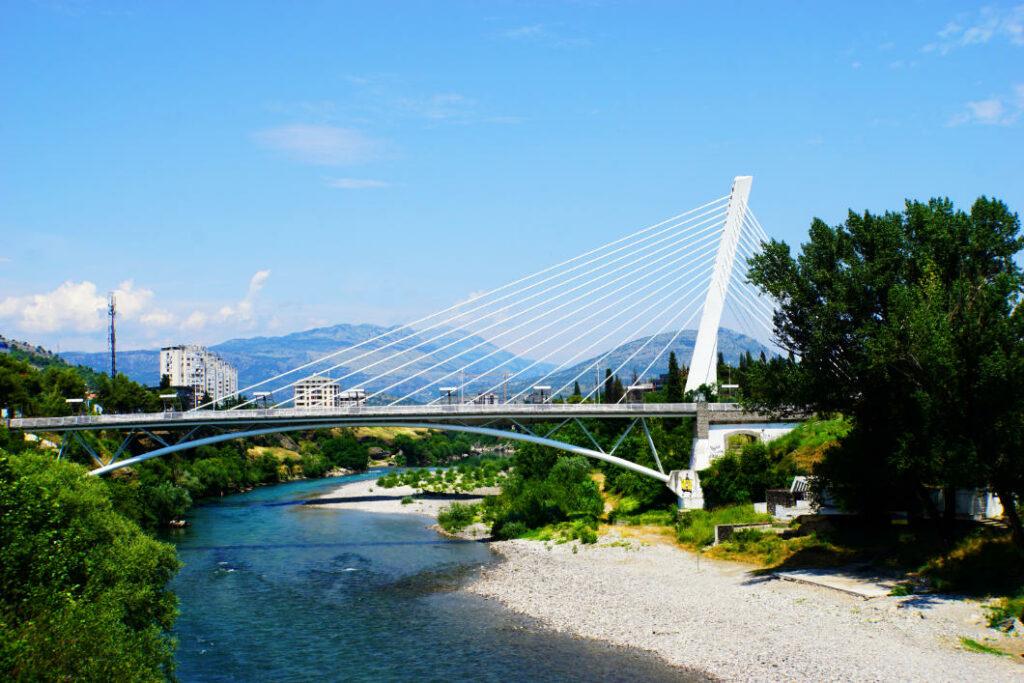 Podgorica Millenium Brücke