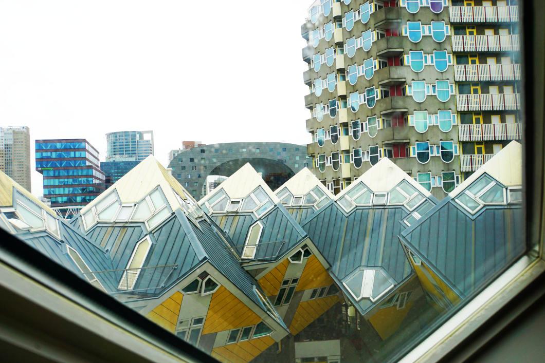 Blick über die Kubushäuser