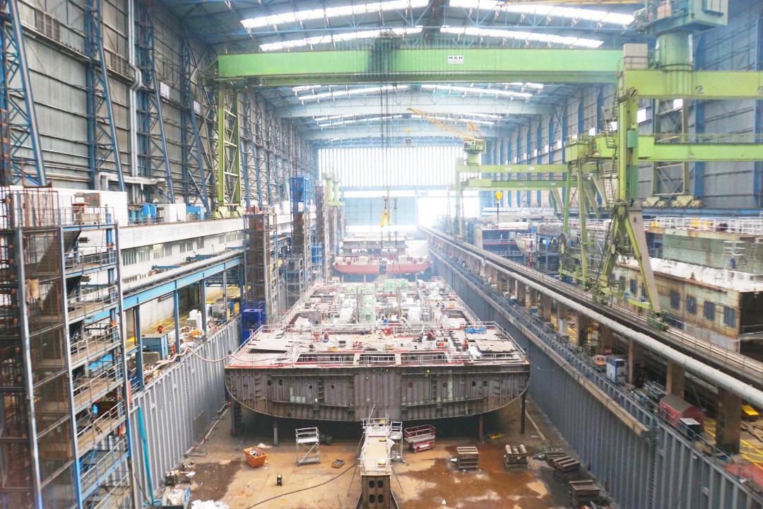 small shipyard in Papenburg