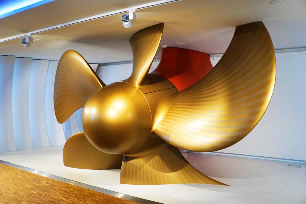 Ship propeller in the visitor center in the Meyer shipyard