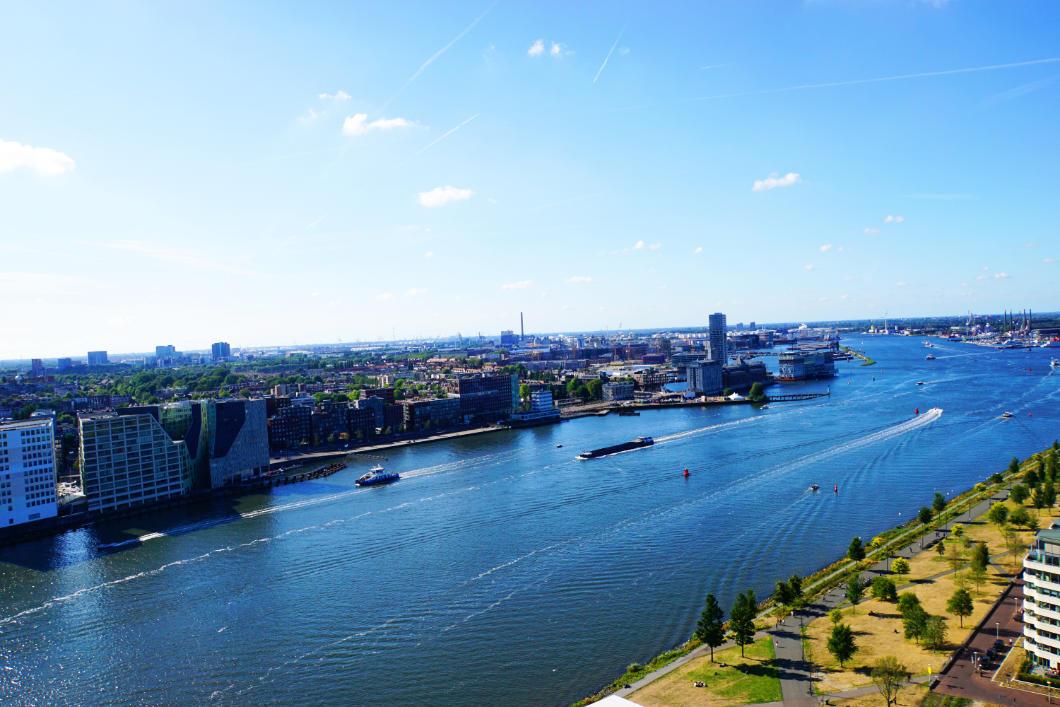 Blick vom Lookout über Amsterdam
