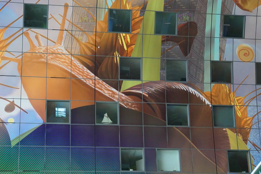 Rotterdam Markthalle Schnecke an der Decke