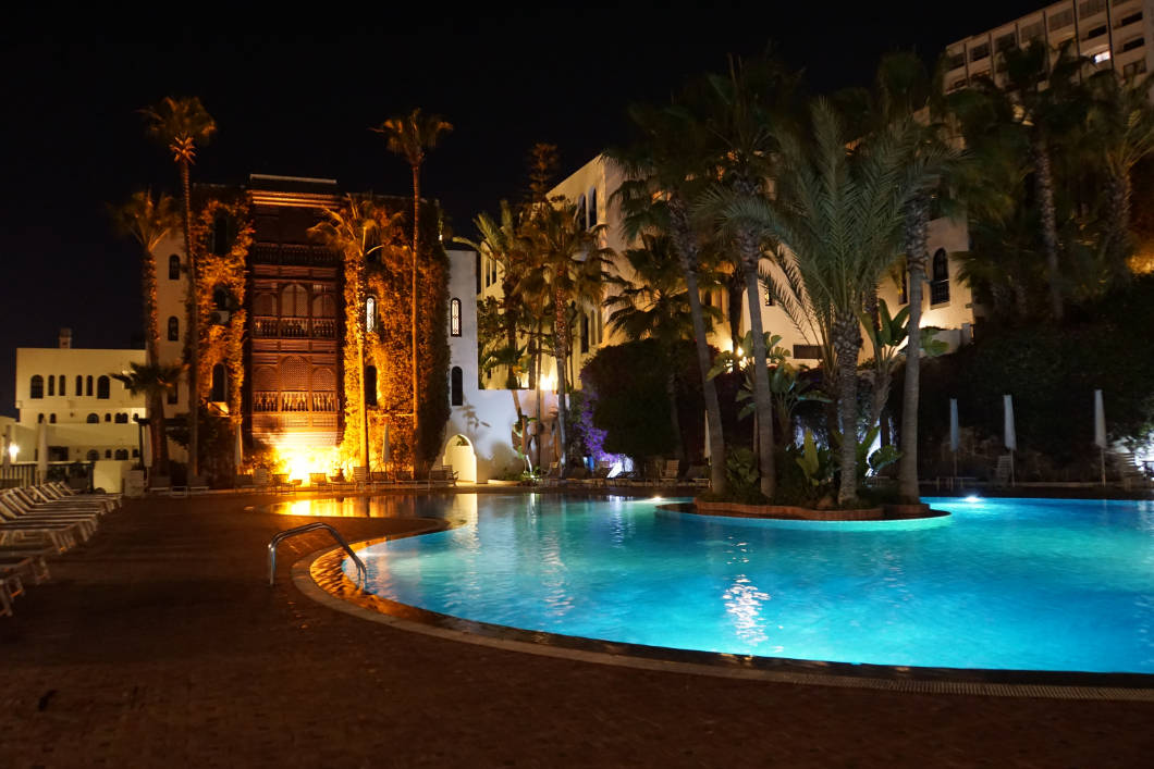 Abendstimmung Hotel Mogador Al Madina