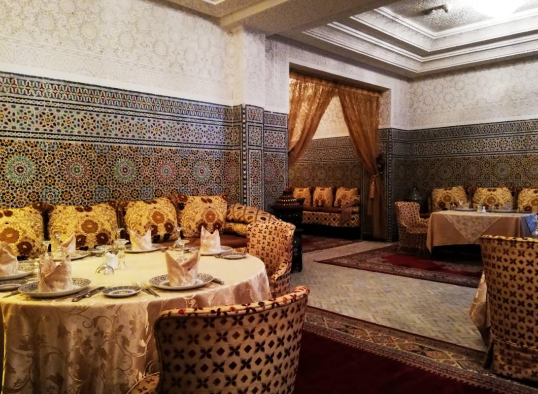 Restaurant Abendstimmung Hotel Mogador Al Madina