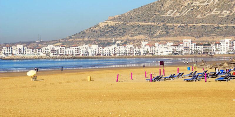 leerer Strand in Agadir