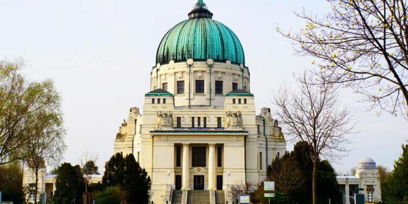Kirche aud dem Zentralfriedhof in Wien