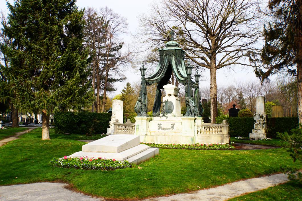 Grabstelle auf dem Friedhof