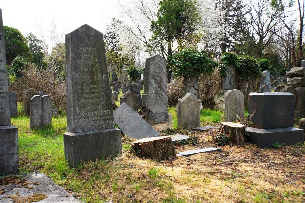 jüdischer Bereich auf dem Zentralfriedhof in Wien