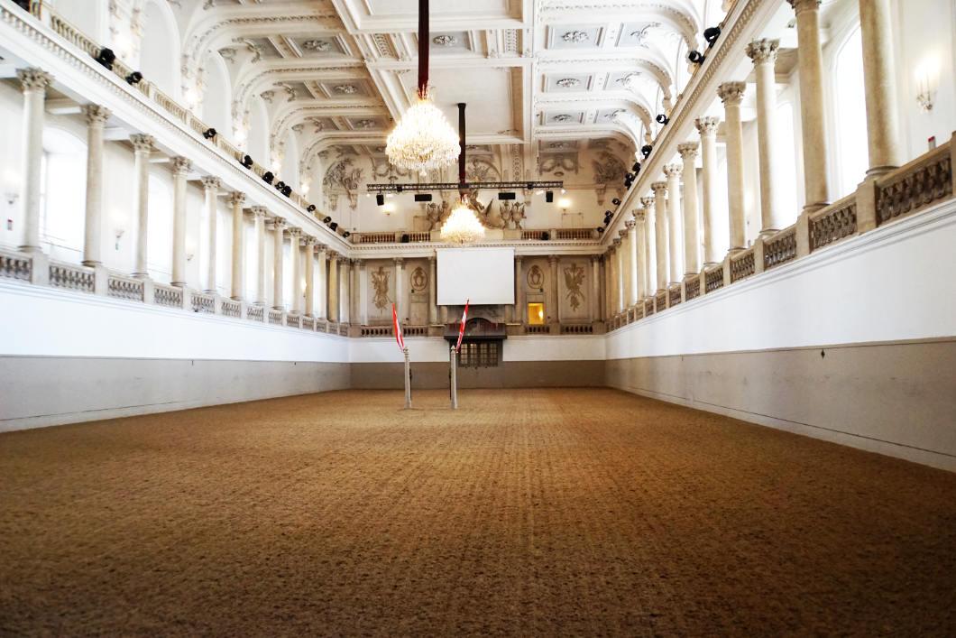 Winterreithalle der Spanischen Hofreitschule in Wien