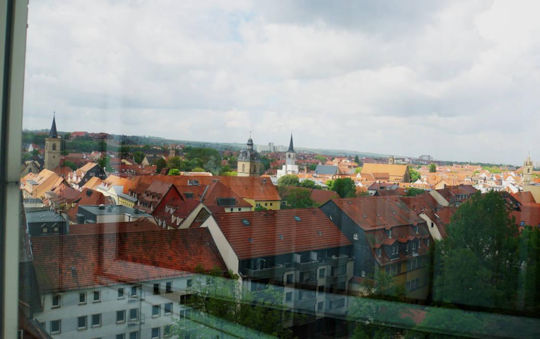 Blick aus dem Hotelfenster in Erfurt