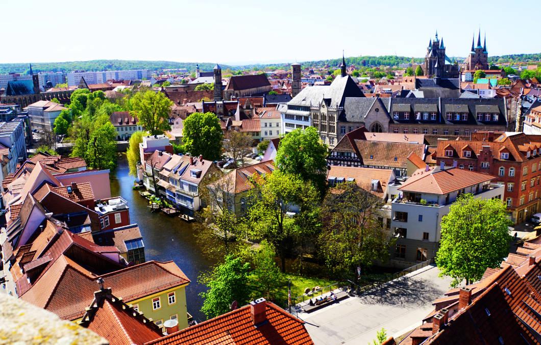 Blick über Erfurt
