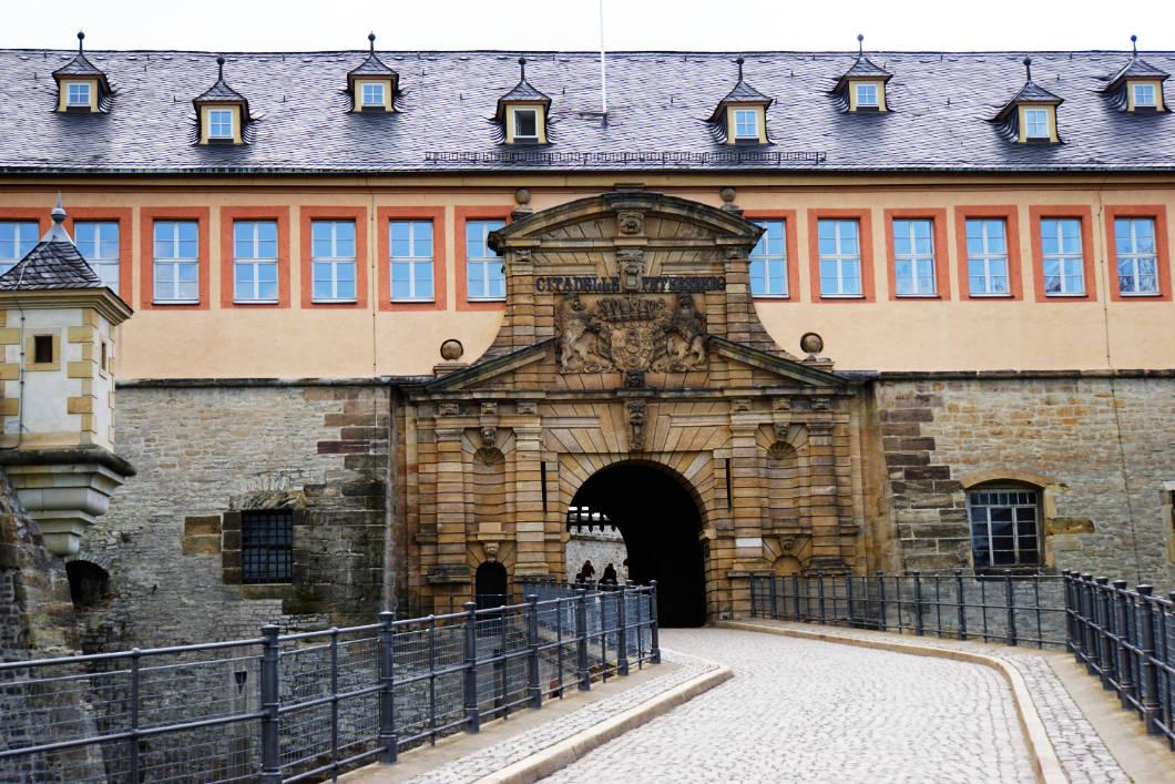Eingang zur Zitadelle Petersberg Erfurt