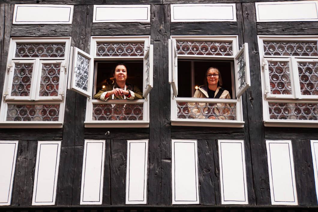 in einem Haus auf der Erfurter Krämerbrücke