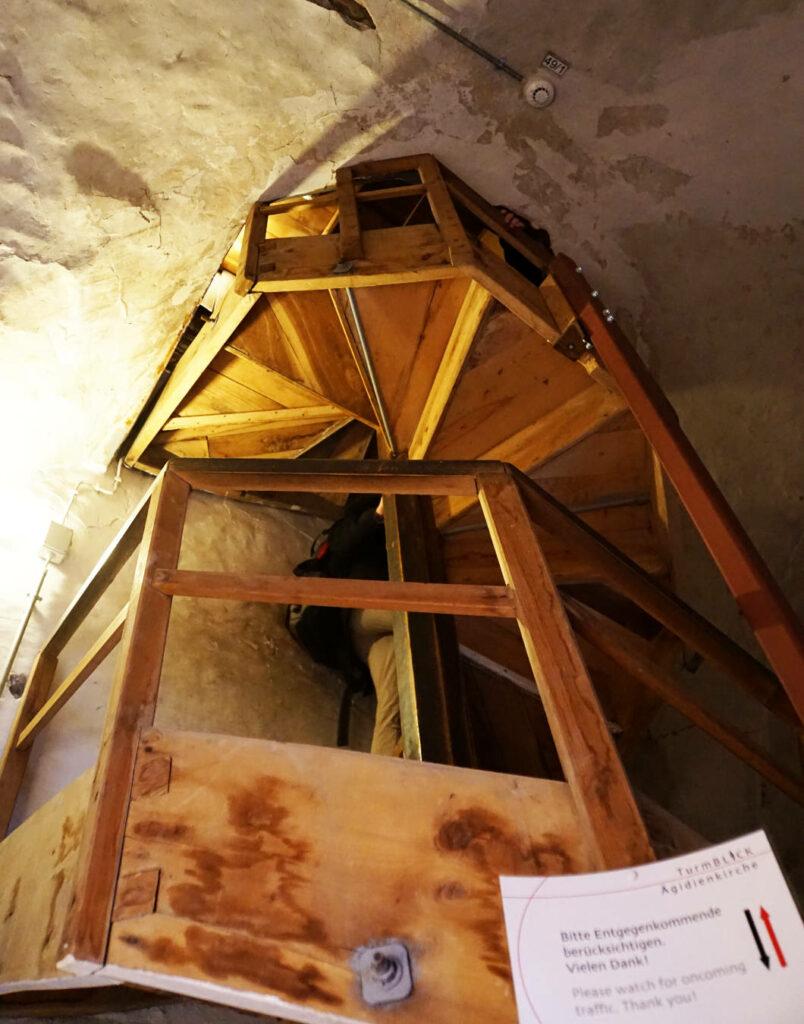 Treppe zur Kirchturmspitze