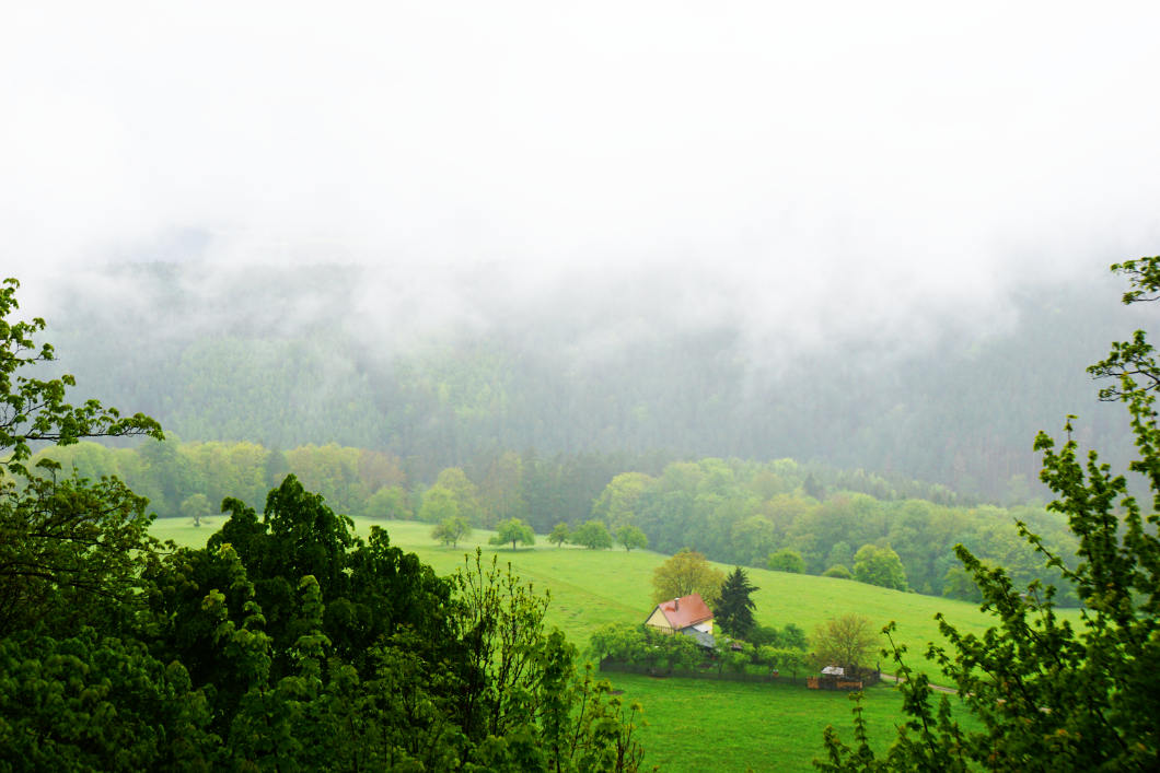 Wolken in Thüringen