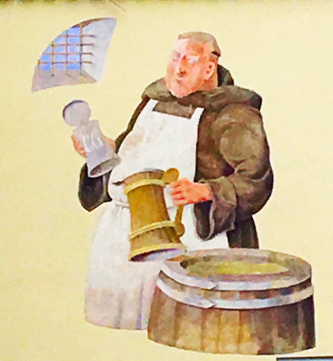 Mönch mit Bier