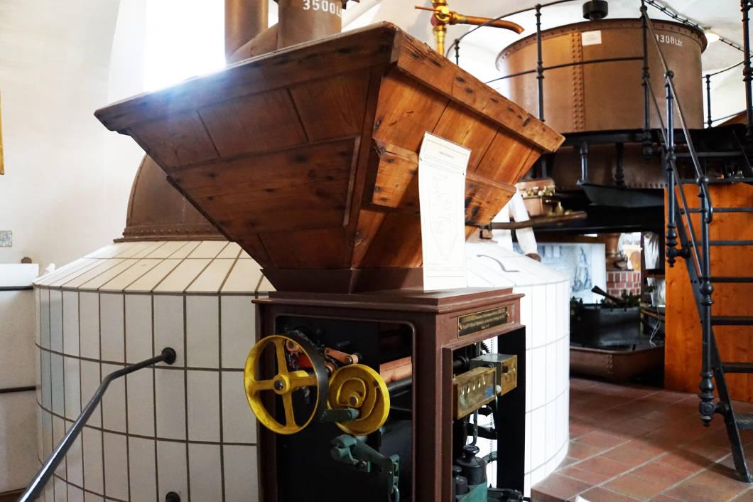 im Fränkischen Brauereimuseum - Braukessel