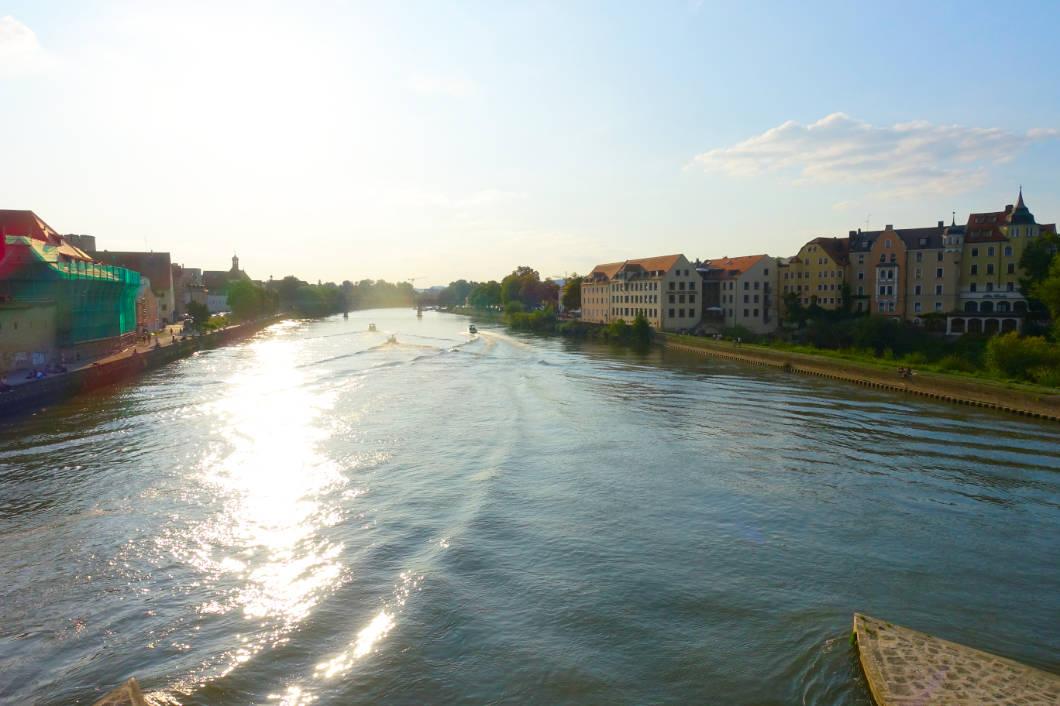 Donau in Regensburg am Morgen