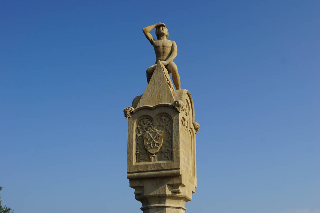 Denkmal des Brückenbaumeisters in Regensburg