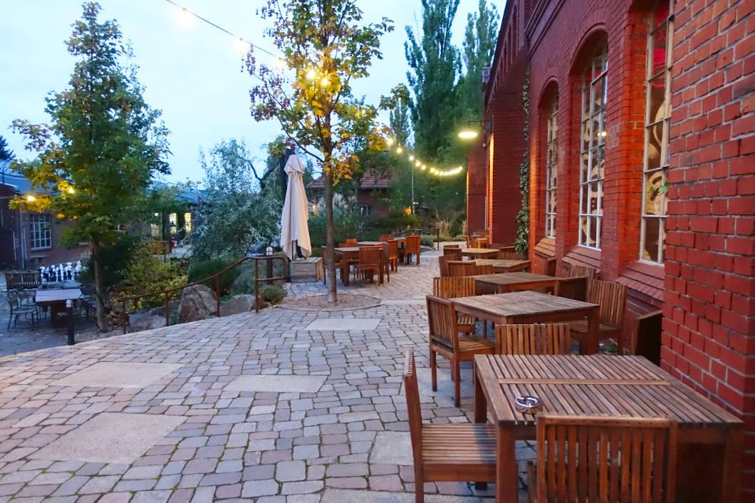 Terrasse der Brauerei