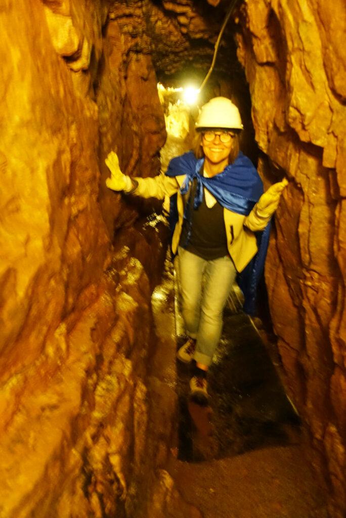 enger Gang im Bergwerk in Freudenstadt