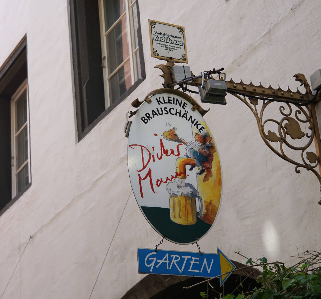 Dicker Mann in Regensburg
