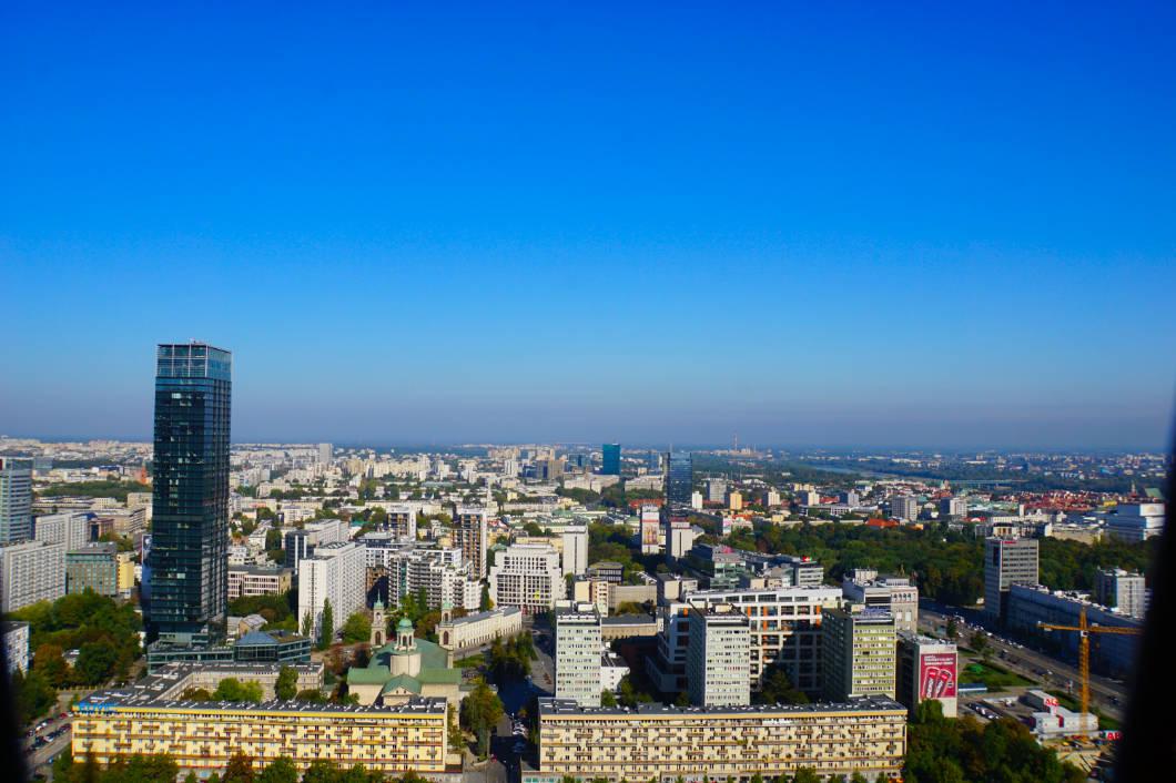 Aussicht auf die Hauptstadt von Polen