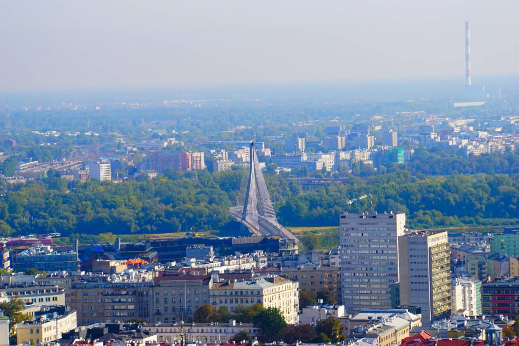 Stadtblick über Polens Hauptstadt