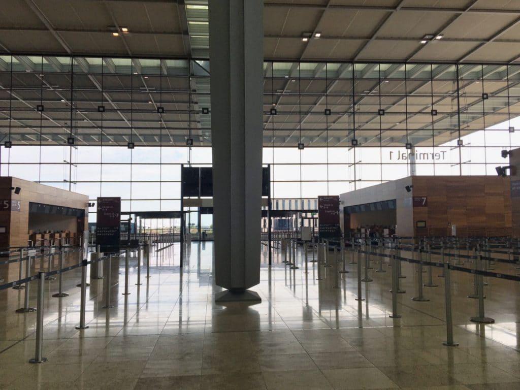 Schalterhalle Hauptstadtflughafen