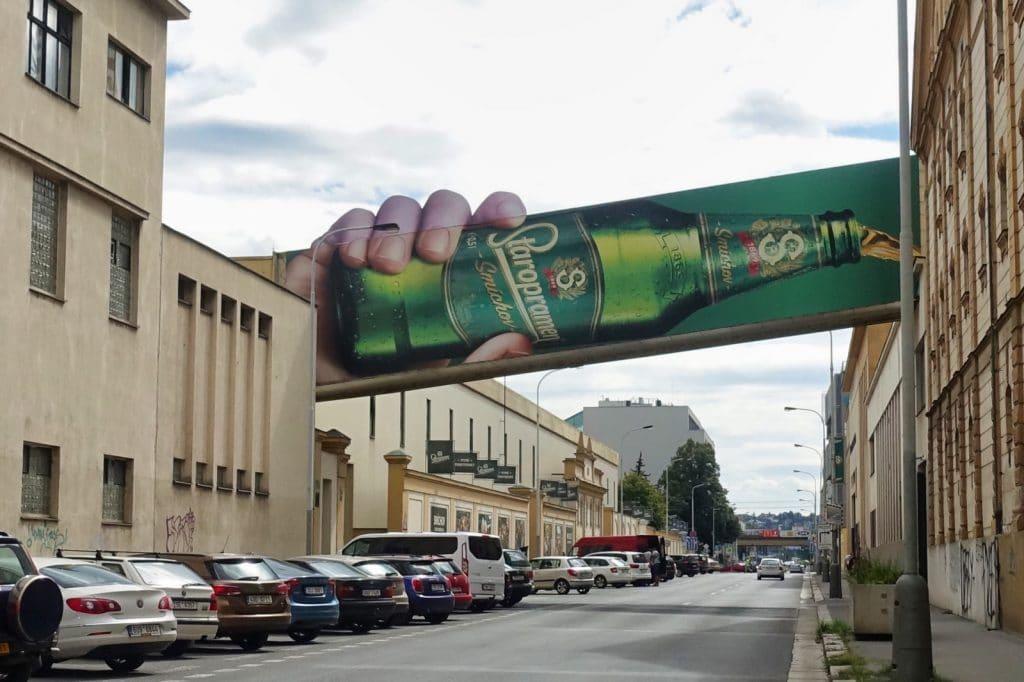 Prag - auf dem Weg zur Staropramen Brauerei
