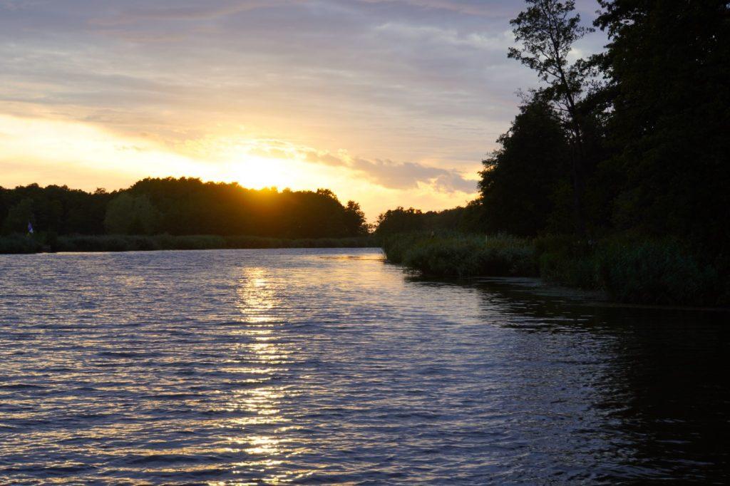 Sonnenuntergang an der Peene