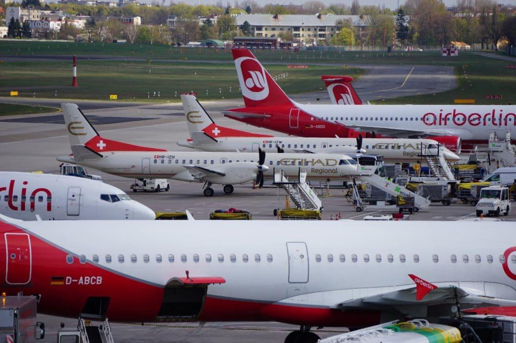 Flugzeuge in Berlin Tegel