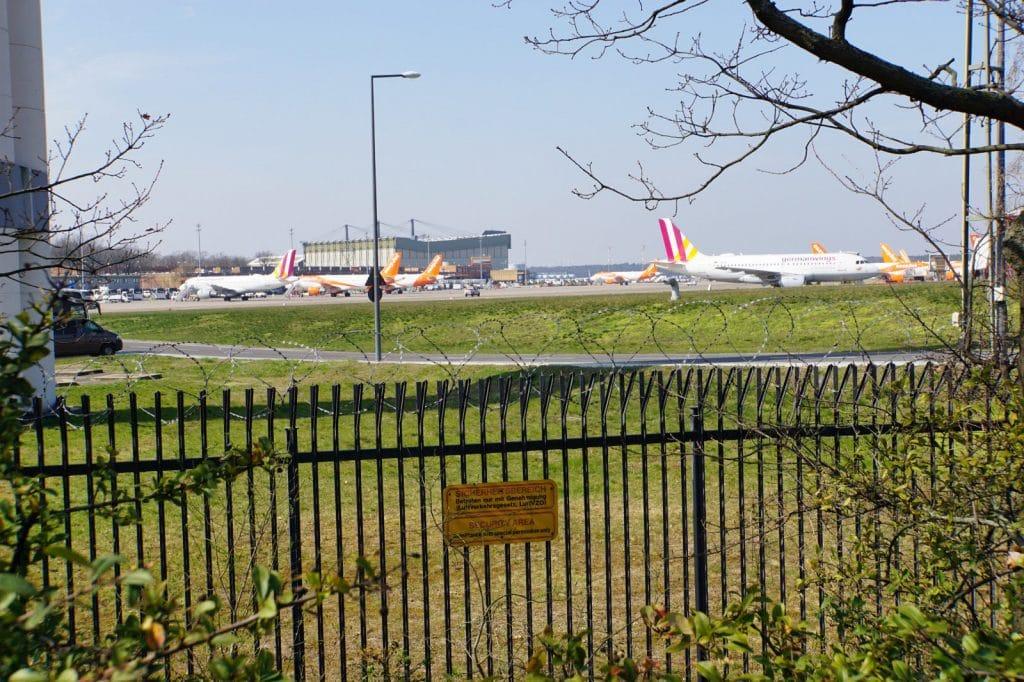 Stillstand auf dem Flughafen Tegel