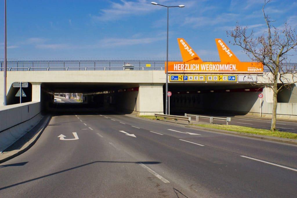 Zufahrtstunnel zum Flughafen Tegel