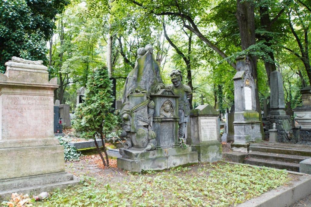 Gräber auf den Friedhöfe Olšany