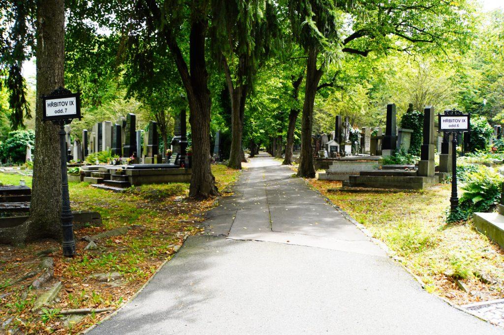 Weg über den Prager Friedhof