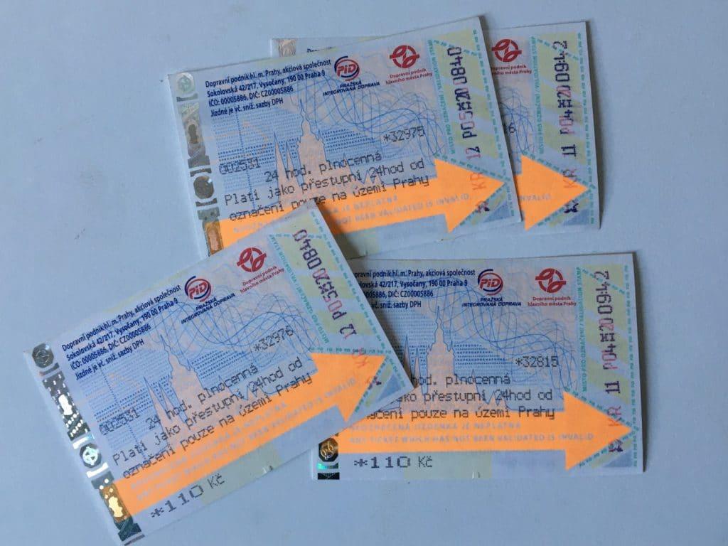 Fahrscheine in Prag