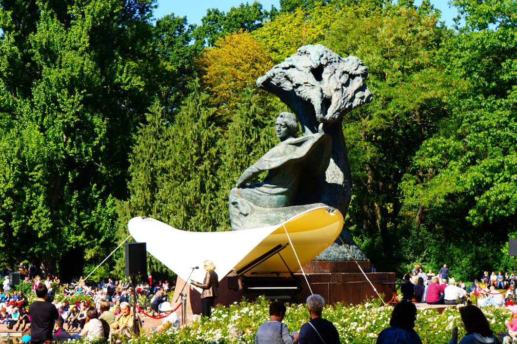 Chopin Denkmal in Warschau