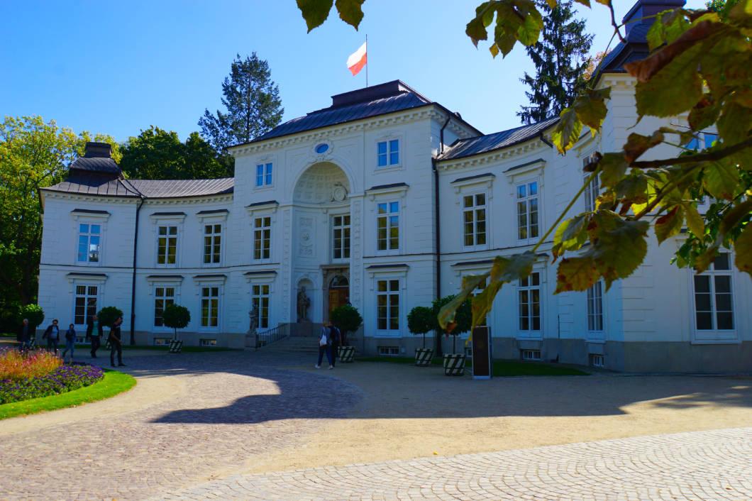 Gebäude im Warschauer Park