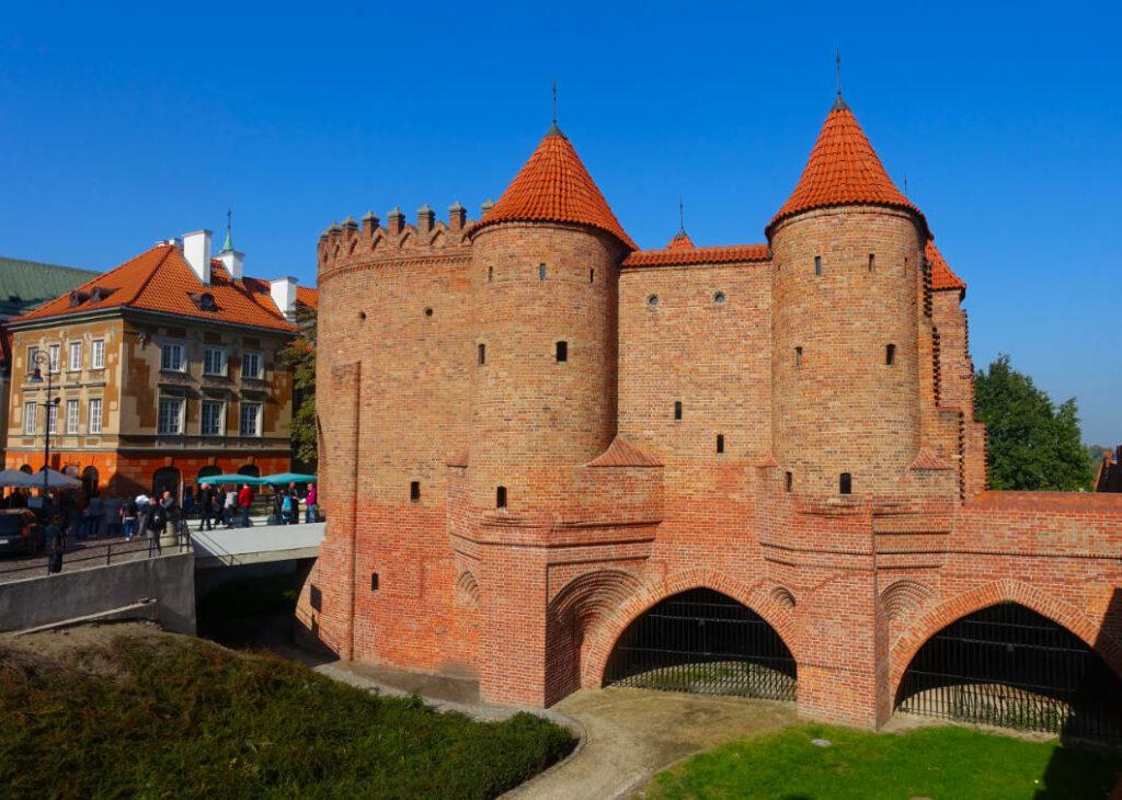 Reste der Altstadtmauer in Warschau