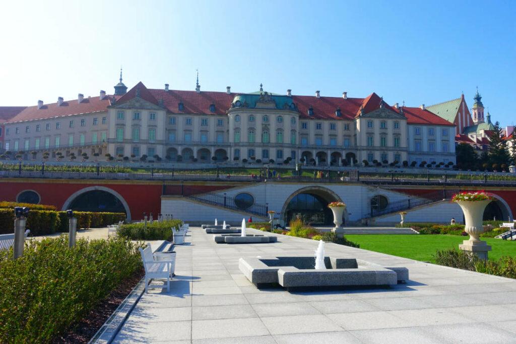 Schlossgarten des Königsschlosses in Warschau